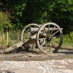 Cannon at Delgaty Castle