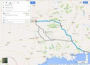 Road Trip pt1, Mobile, AL to Shawnee, OK