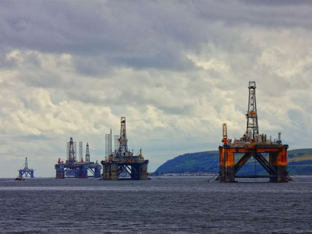 Idle Oil Rigs