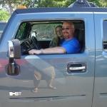 Test driving a Hummer
